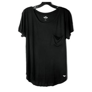 Hollister 2pc large black & gray luxe viscose tees